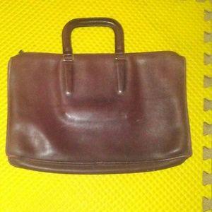 COACH Maroon Briefcase